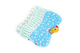 "POPPALES-Baby Burp Cloths 19"" x 9"" with Fun Colorful Patterns 