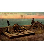 COLOUR POSTCARD-THE SAND ARTIST, ATLANTIC CITY, NJ - MADE IN GERMANY BK23 - $3.47