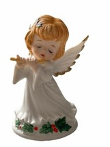 Vintage Lefton China  Christmas Angel playing a flute 1991 - $19.99