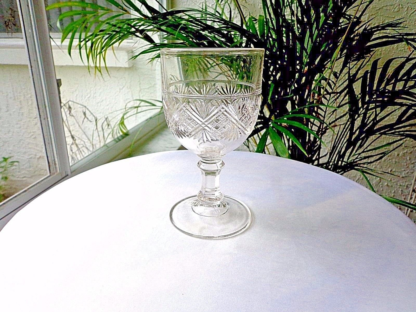 Primary image for Bryce Walker Diamond Sunburst c 1870's Original Clear Water Goblet