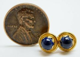 Vintage Tiffany & Co 18K Yellow Gold Star Sapphire Stud Earrings 3.2g image 6