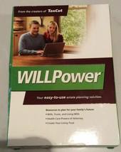 H&R Block Will Maker Power Plus Living Trust Software NEW by J Adams WillPower - $14.84
