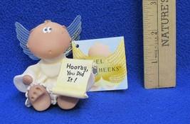 Angel Cheeks Figurine Hooray You Did It !  Russ Berrie Kirk Kritters 2001 NEW - $7.91