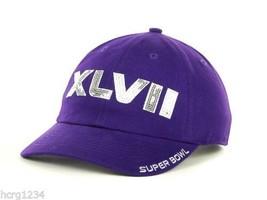 47 Brand Women's Dazzled Super Bowl XLVII Adjusable Logo Cap Hat Purple - $14.24