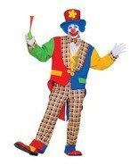 NEW Clown on the Town, Adult Man Costume by Forum Novelties,Blue/Red,One... - £26.72 GBP