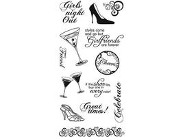 Fiskars Girls Night Clear Stamp Set #01-005528