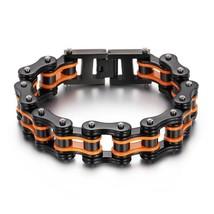 Charm Punk Rock Biker Bracelet Men Stainless Steel Bracelet Jewelry Gift Friends - $34.79