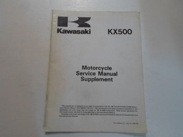 1990 Kawasaki KX500 Kx 500 Service Manual Supplement Stained Factory Oem Deal 90 - $15.80
