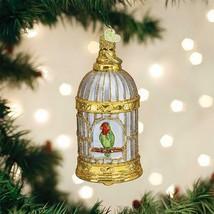 OLD WORLD CHRISTMAS VINTAGE BIRD CAGE GLASS CHRISTMAS ORNAMENT 16127 - $21.88