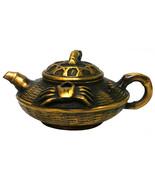 Chinese Handmade Metal Bronze Color Crab Teapot Display cs1035-9 - $128.00