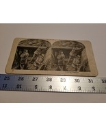 Home Treasure #8 In The Trenches Stereoview Card Military Troops Fightin... - $23.74