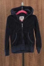 Juicy Couture Girls Zip Hoodie Top Terry Cloth Loungewear Size 5 - $20.74