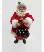 Coca-Cola 2016 Kurt S. Adler Fabriche Santa Selling Cokes- BRAND NEW - $78.21