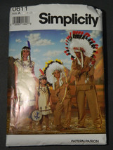 Simplicity 0611 Childs Ethnic Costume Sewing Pattern Size A Small Medium Large - $12.97