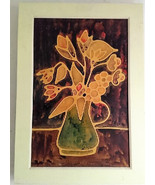 Rare, Original & Signed Marriux Flower in Vase Still Life Mixed Media La... - $639.99