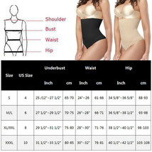 "Women""s Boned High Waist Trainer Tummy Control Body Shaper Thong Pants U... - $19.60"
