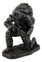 "Ebros Prayer for Courage Kneeling Soldier Statue 6"" H Honor & Valor Military Com - $29.99"