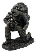"Ebros Prayer for Courage Kneeling Soldier Statue 6"" H Honor & Valor Mili... - £23.70 GBP"