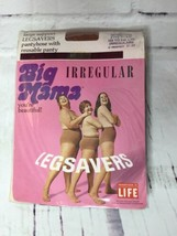 Vintage Big Mama Leg Savers Beige Pantyhose Stockings Hosiery & Reusable... - $21.77