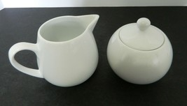 Cooks jcp home White Dinnerware Collection Milk Glass Covered Sugar & Cr... - $19.68