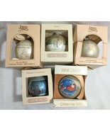 Lot 5 VTG 80s Christmas Glass Ornament Hallmark Precious Moments Disney ... - £12.91 GBP