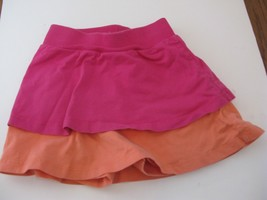 Hanna Andersson tiered skort  Pink Orange 110 euc - $8.56