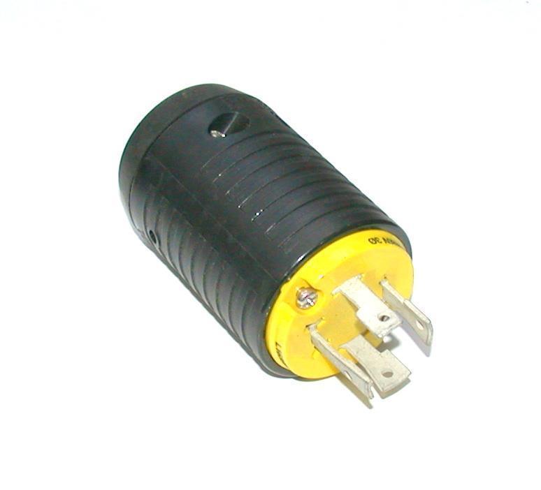 HBL2431 Insulgrip Twist-Lock Plug; Pin Cont; L16-20P NEMA; 4 Cond; 3 Poles