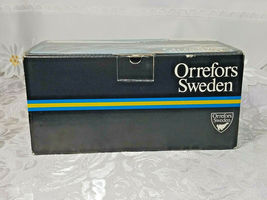 RARE 2 PER BOX ORREFORS Double Old Fashioned Glasses SWEDEN Gunnar Cyrén NIB image 7