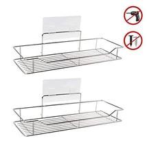 Adhesive Bathroom Shelf Organizer Shower Caddy Kitchen Storage Rack, (2 ... - $26.95