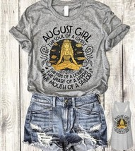 August Girl the Soul Of A Gypsy The Fire Of A Lioness Tshirt Women Sport... - $20.00+