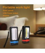 COB Solar LED Rechargeable Work Light Magnet Flashlight Torch camping, c... - £13.32 GBP