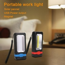 COB Solar LED Rechargeable Work Light Magnet Flashlight Torch camping, c... - £13.34 GBP
