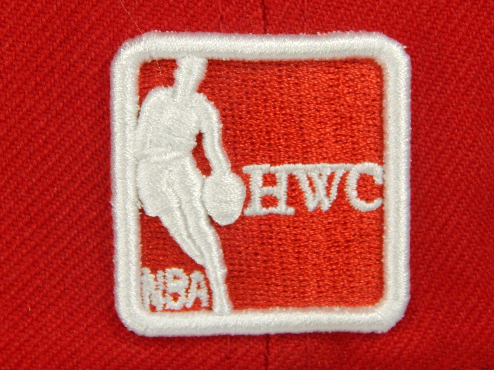 Houston Rockets New Era Dog Ear Size 7 1/2 NBA HWC Team 59FIFTY Cap Hat Red