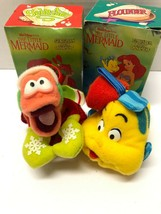 Disney The Little Mermaid VINTAGE McDonald's Flounder & Sebastian Plush ... - $19.80