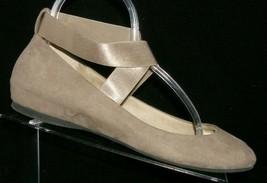 Jessica Simpson Mandayss taupe man made elastic cross strap ballet flats 8.5B - $28.63