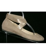Jessica Simpson Mandayss taupe man made elastic cross strap ballet flats... - $28.63