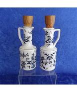 Blue Danube Oil & Vinegar Cruets Vintage Blue Onion Pattern #99183 China... - $24.95