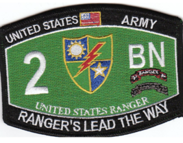 "4.375"" Army 2ND Battalion 75TH Rangers Lead The Way Embroidered Patch - $17.09"