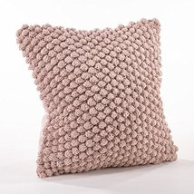 Fennco Styles Handmade Crochet Pompom Throw Pillow - 4 Colors (Pink) - $49.49