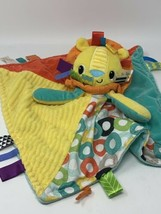 Bright Starts Cuddles and Tags Blankie Lion Plush Soft MultiColor Taggies Lovey - $25.99