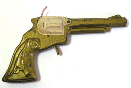 Rare Vintage  Western Tinplate Cap Gun Revolver Cowboy Tin Toy  Sheriff - $78.46
