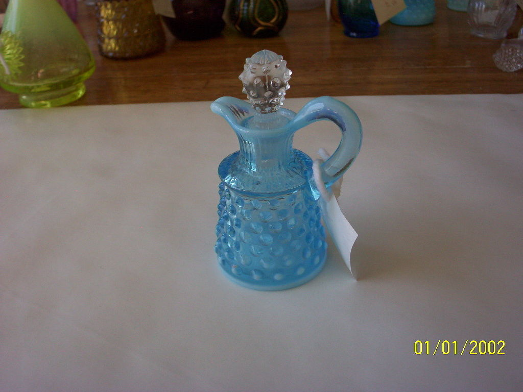 Primary image for Fenton Blue Hobnail Cruet