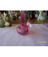 Cranberry Mary Gregory Type Cruet - $29.70