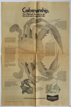 """National Brewing Co. """"Crabmanship"""" 1971  Newspaper Promo Full Page Ad... - $18.00"""