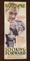 * LOOKING FORWARD (1933) Original Insert Poster LIONEL BARRYMORE, LEWIS ... - $125.00