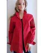 STYLE & Co Collection Red Suede Shirt Size M Petite - $9.89