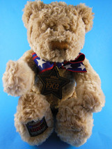 "Gund 100th Anniversary Wish Teddy Bear Plush tan Brown 12"" 9"" sitting 2002 - $10.60"