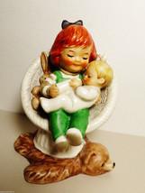 VTG 1970 Goebel Germany Baby Sitter Charlot Byj 66 Redhead Girl w Baby f... - $91.08