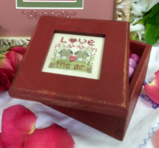 Red Wooden Box for Love Is In The Air kit cross stitch Shepherd's Bush - $30.00