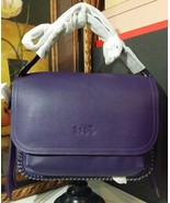 NWT COACH WHIPSTITCH DAKOTAH FRINGE FLAP CROSSBODY LEATHER DK/VIOLET 339... - $371.99